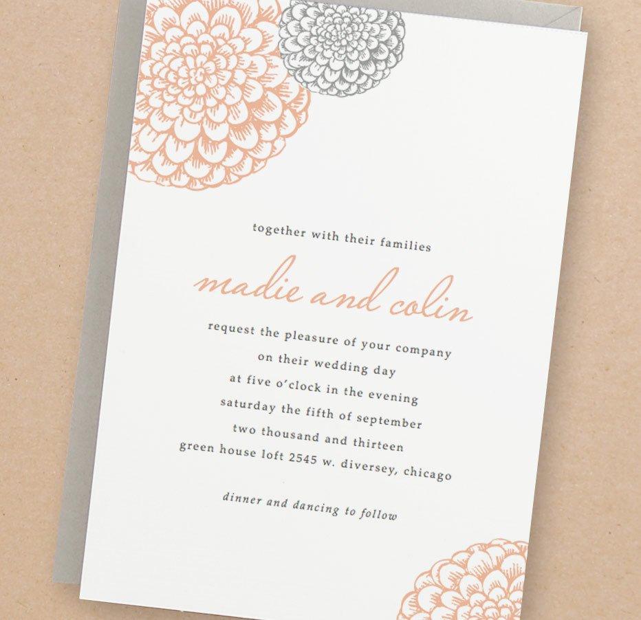 Free Wedding Invitation Template Printable Wedding Invitation Template Instant Download