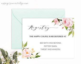 Free Wedding Registry Card Template Printable Wedding Registry Card Template Printable Rustic