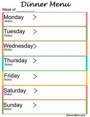 Free Weekly Meal Planner Template Free Printable Weekly Dinner Menu Planner the Dinner Mom