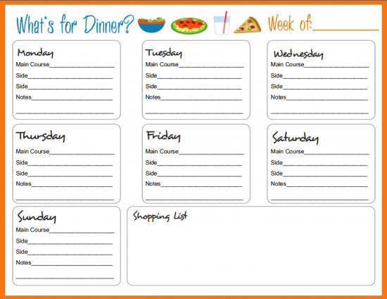 Free Weekly Meal Planner Template Meal Planning Templates On Pinterest