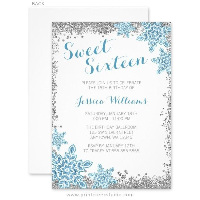 Free Winter Wonderland Invitations Templates 233 Best Winter Wonderland Sweet 16 Ideas Images On