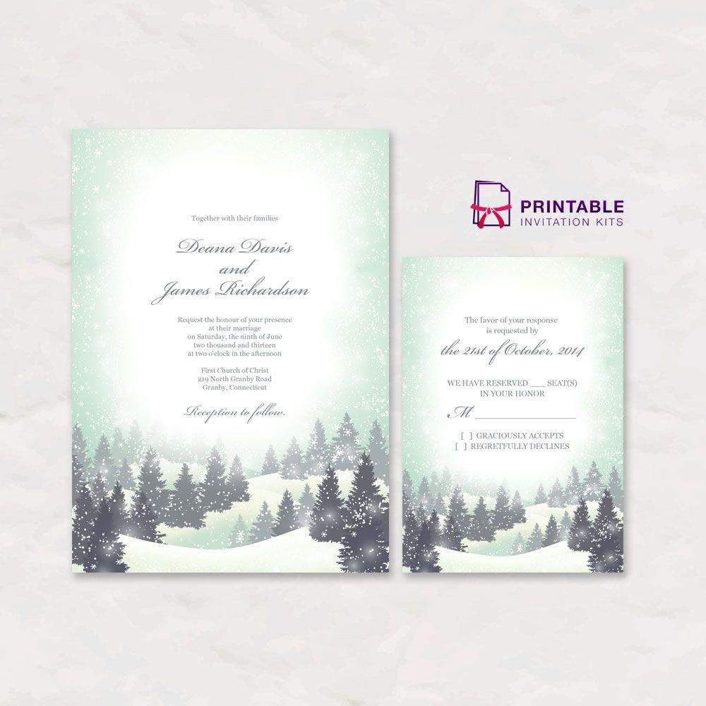 Free Winter Wonderland Invitations Templates Free Pdf Download Winter Wonderland Wedding Invitation