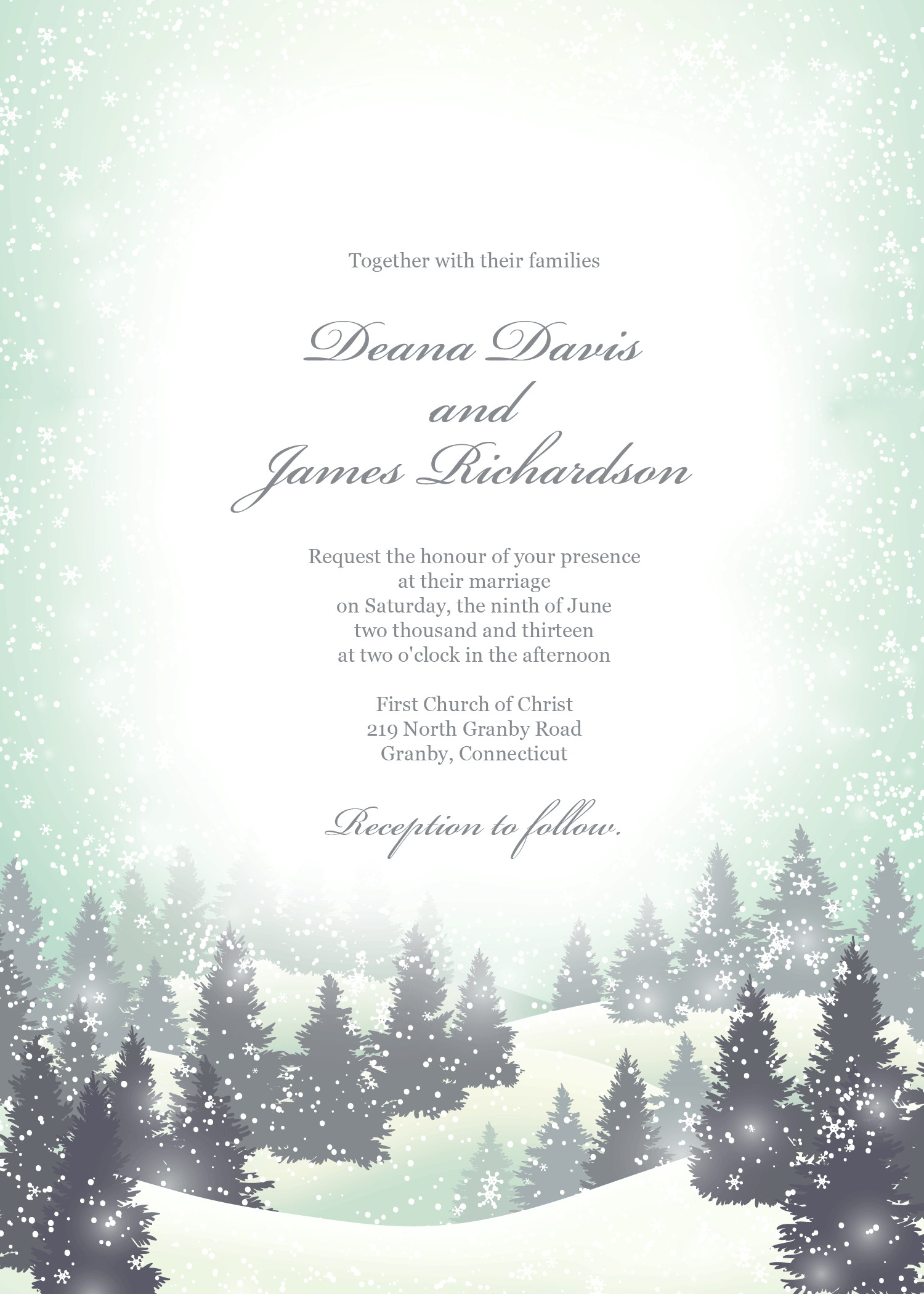 Free Winter Wonderland Invitations Templates Free Pdf Invitation Template Winter Wonderland Can Also