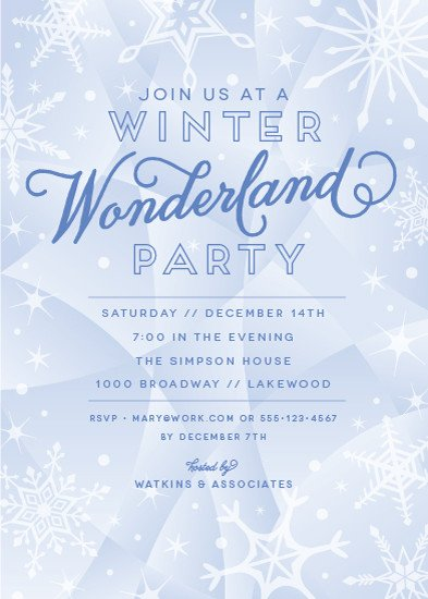 Free Winter Wonderland Invitations Templates Party Invitations Winter Wonderland at Minted