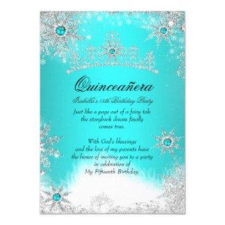 Free Winter Wonderland Invitations Templates Quinceañera Invitations & Party Invites Easy to Use