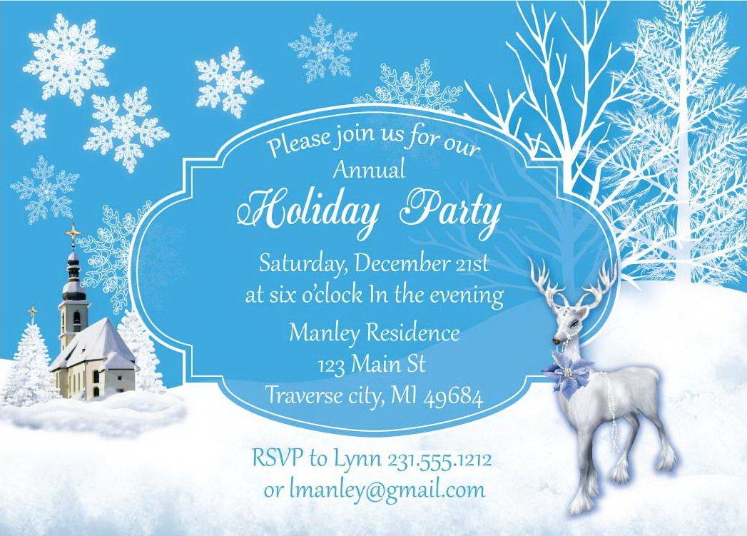 Free Winter Wonderland Invitations Templates Winter Wonderland Christmas Invitation by Announceitfavors