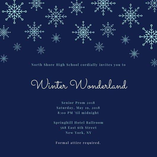 Free Winter Wonderland Invitations Templates Winter Wonderland Invitation