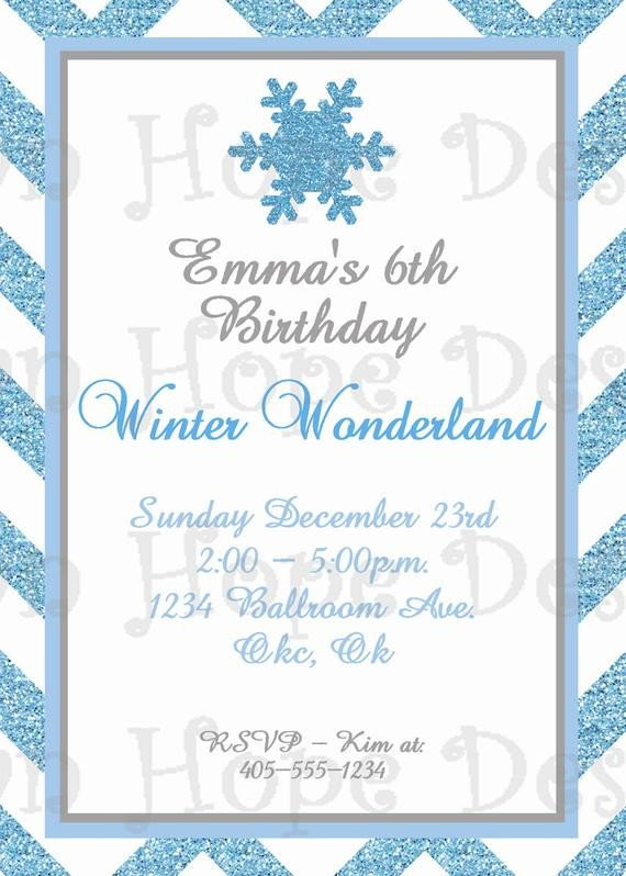 Winter Wonderland Invitation Winter Wonderland Birthday