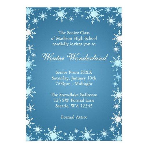 "Free Winter Wonderland Invitations Templates Winter Wonderland Prom Invitations 5"" X 7"" Invitation Card"
