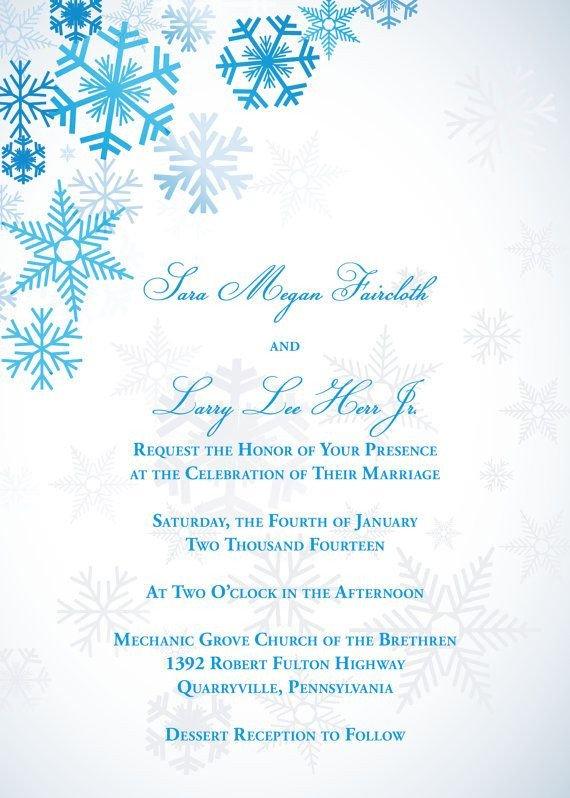 Free Winter Wonderland Invitations Templates Winter Wonderland Wedding Invitation by