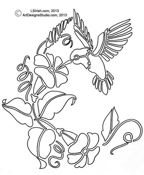 Free Woodburning Patterns Stencils Free Hummingbird Pattern by Lora Irish