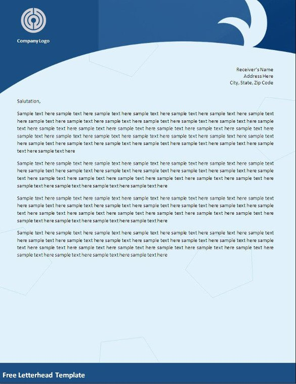Free Word Letterhead Templates 32 Word Letterhead Templates Free Samples Examples