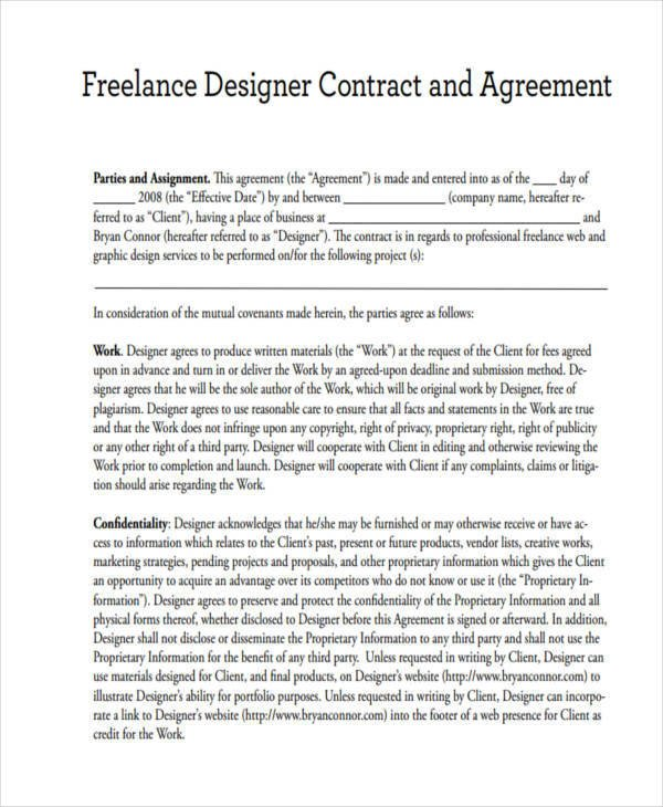 17 Freelance Contract Templates Docs Word Pages
