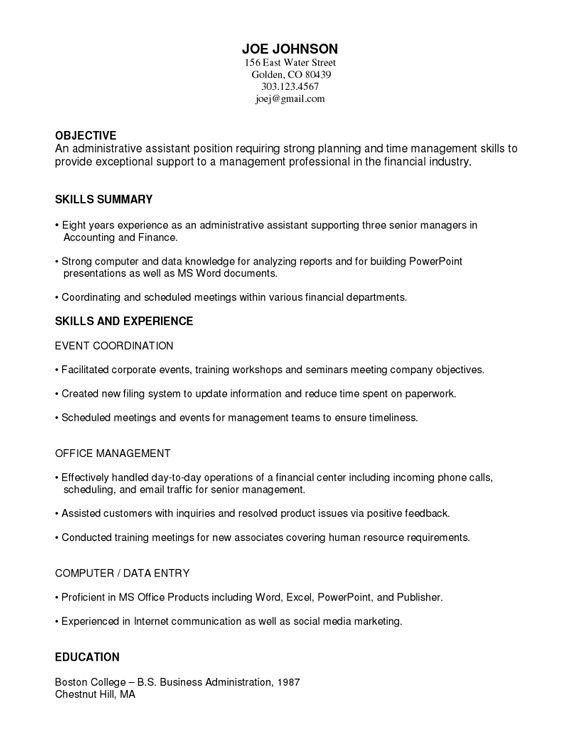Functional Resumes Templates Free 14 Best Administrative Functional Resume Images On
