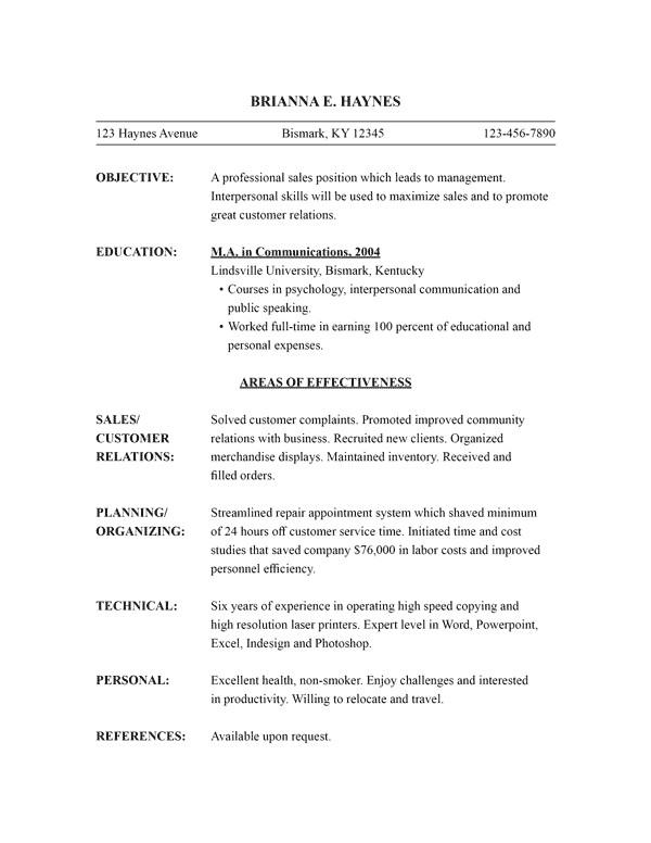 Functional Resumes Templates Free Free Resume Templates