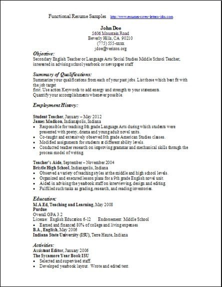 Functional Resumes Templates Free Functional Resume Samples Examples Samples Free Edit with Word