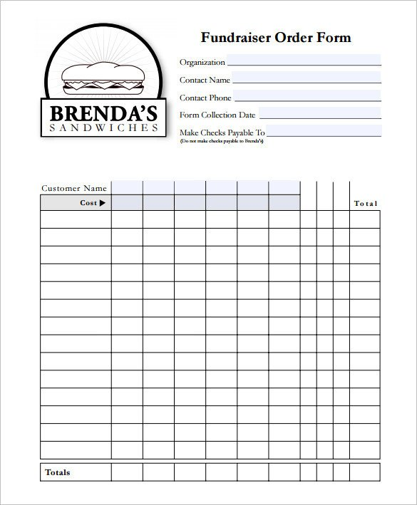 Fundraising order form Templates 29 order form Templates Pdf Doc Excel