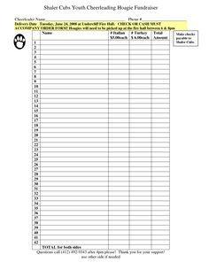 Fundraising order form Templates Fundraiser order form Pinterest
