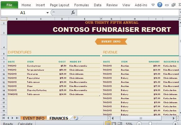 Fundraising Plan Template Excel Non Profit Fundraising Report Maker for Excel