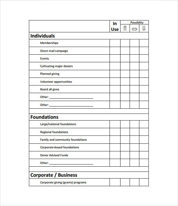 Sample Fundraising Plan 11 Documents in Word PDF