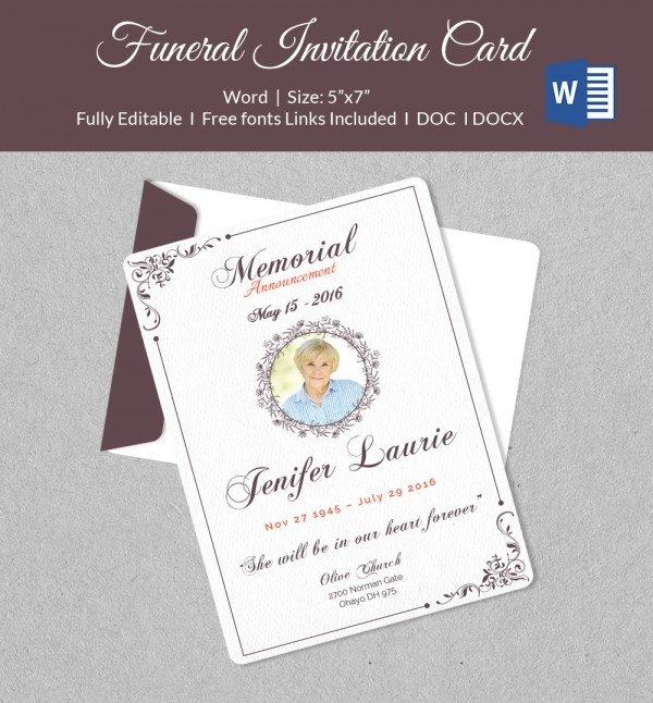 Funeral Invitation Template Free 50 Microsoft Invitation Templates Free Samples