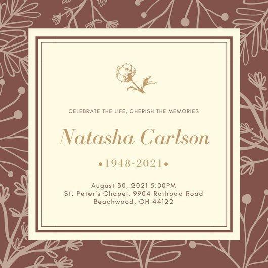 Funeral Invitation Template Free Customize 40 Funeral Invitation Templates Online Canva