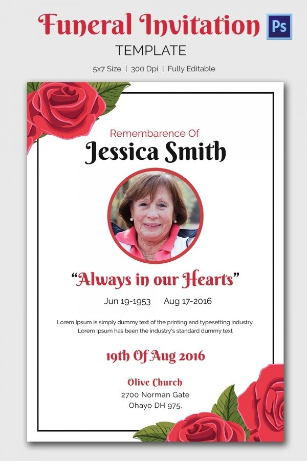 Funeral Invitation Template Free Funeral Invitation Template – 12 Free Psd Vector Eps Ai