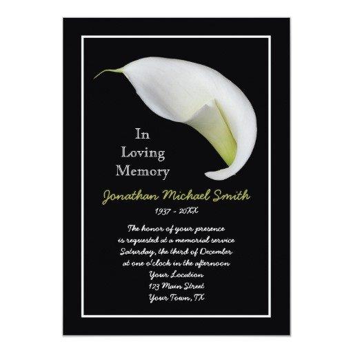 Funeral Invitation Template Free Memorial Service Invitation Announcement Template