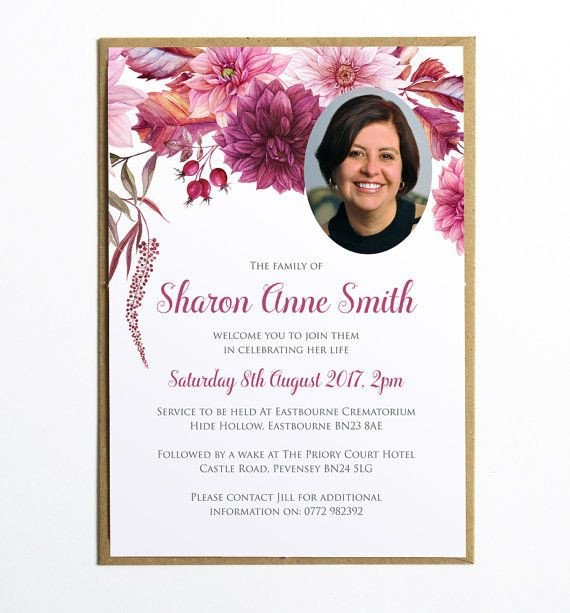 Funeral Invitation Template Free Pin by Marilynn Robinson On Recipes