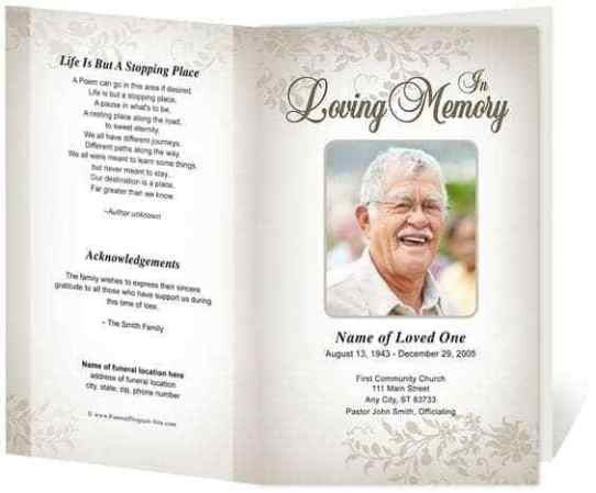 Funeral Mass Booklet Template 21 Free Free Funeral Program Template Word Excel formats