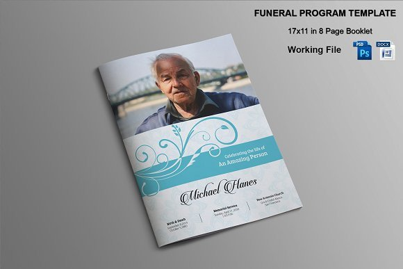 Funeral Mass Booklet Template 8 Page Funeral Booklet Template V482 Brochure Templates