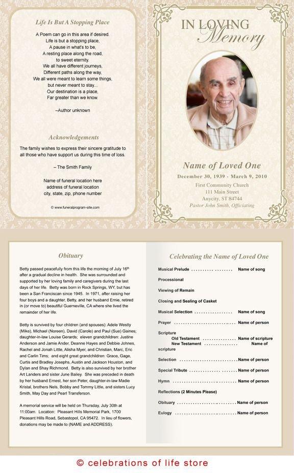 Funeral Mass Booklet Template Alexandria Printable Funeral Program Template