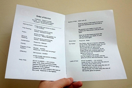 LiturgyTools Template booklet for a Catholic funeral Mass