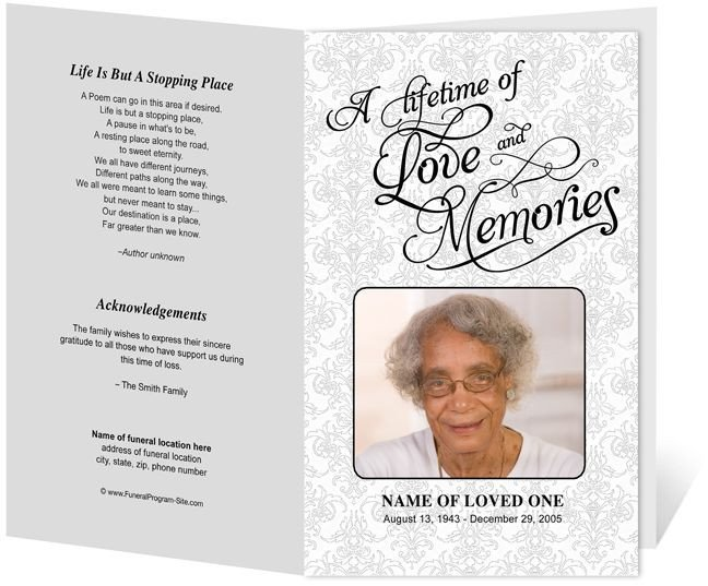 Funeral Pamphlet Template Free 218 Best Images About Creative Memorials with Funeral