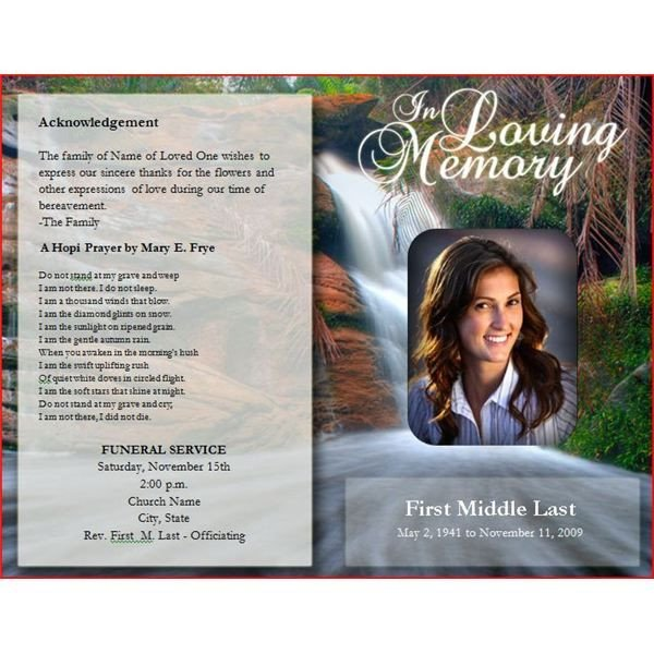 Funeral Pamphlet Template Free Downloadable Funeral Bulletin Covers