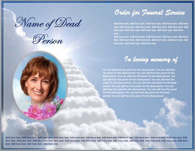 Funeral Pamphlet Template Free Funeral Brochure Template Word Templates