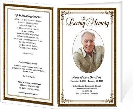 Funeral Pamphlet Template Free Funeral Bulletins Simple Elegant Frame Funeral Programs