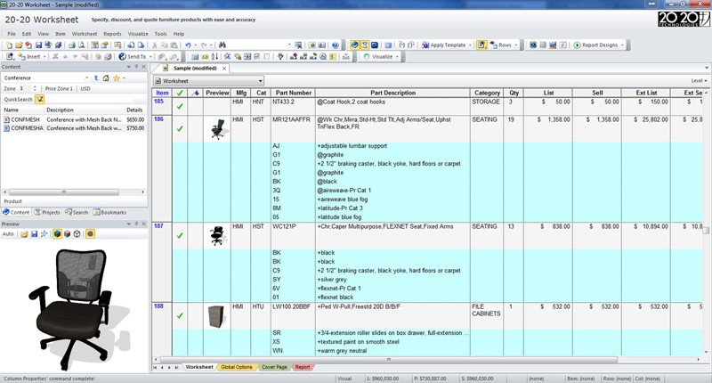 Furniture Spec Sheet Template Furniture Specification software 2020 Worksheet