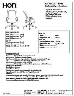 Furniture Spec Sheet Template Hon Boda High Back Mesh Task Chair 44 H X 27 34 W X 35 12