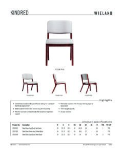 Furniture Spec Sheet Template Specification Sheet Wieland Healthcare Furniture