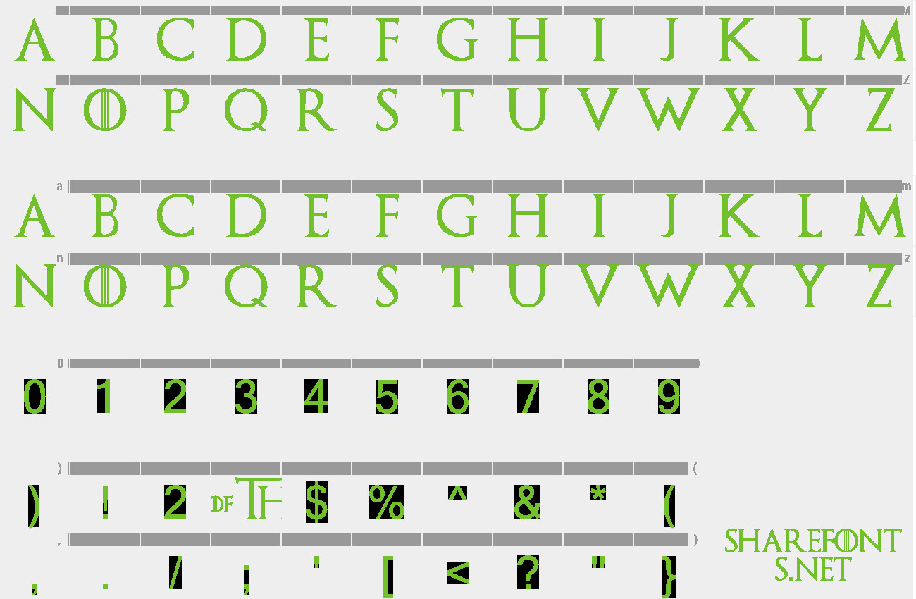 Game Of Thrones Fonts Download Free Font Game Of Thrones
