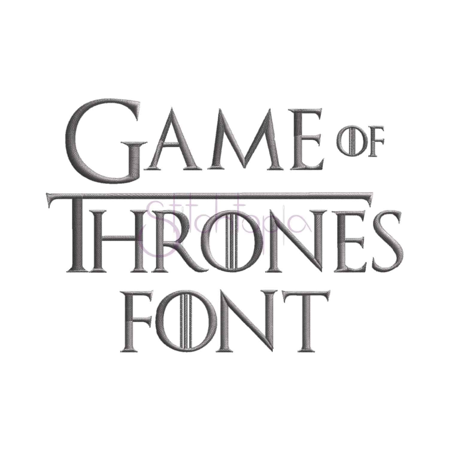 """Game Of Thrones Fonts Game Of Thrones Embroidery Font 75"""" 1"""" 1 5"""" 2"""" 2 5"""