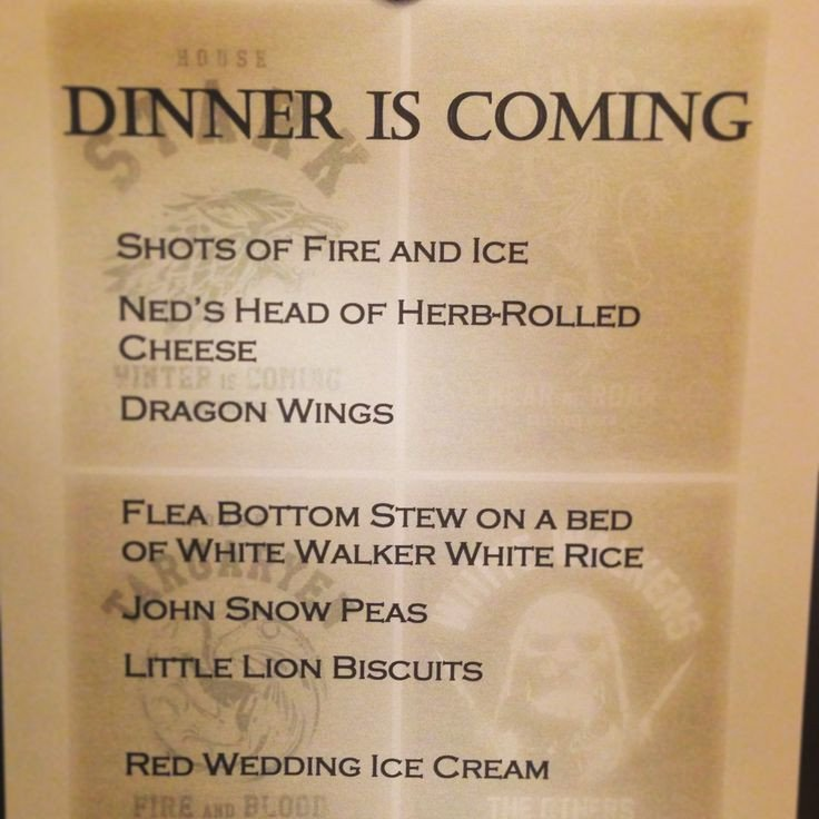 Game Of Thrones Menu Template 17 Best Images About Party Ideas On Pinterest
