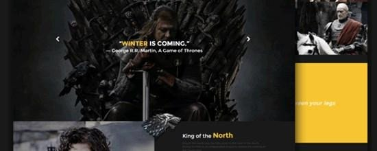 Game Of Thrones Menu Template 50 Of the Best & Free Responsive HTML5 Website Templates