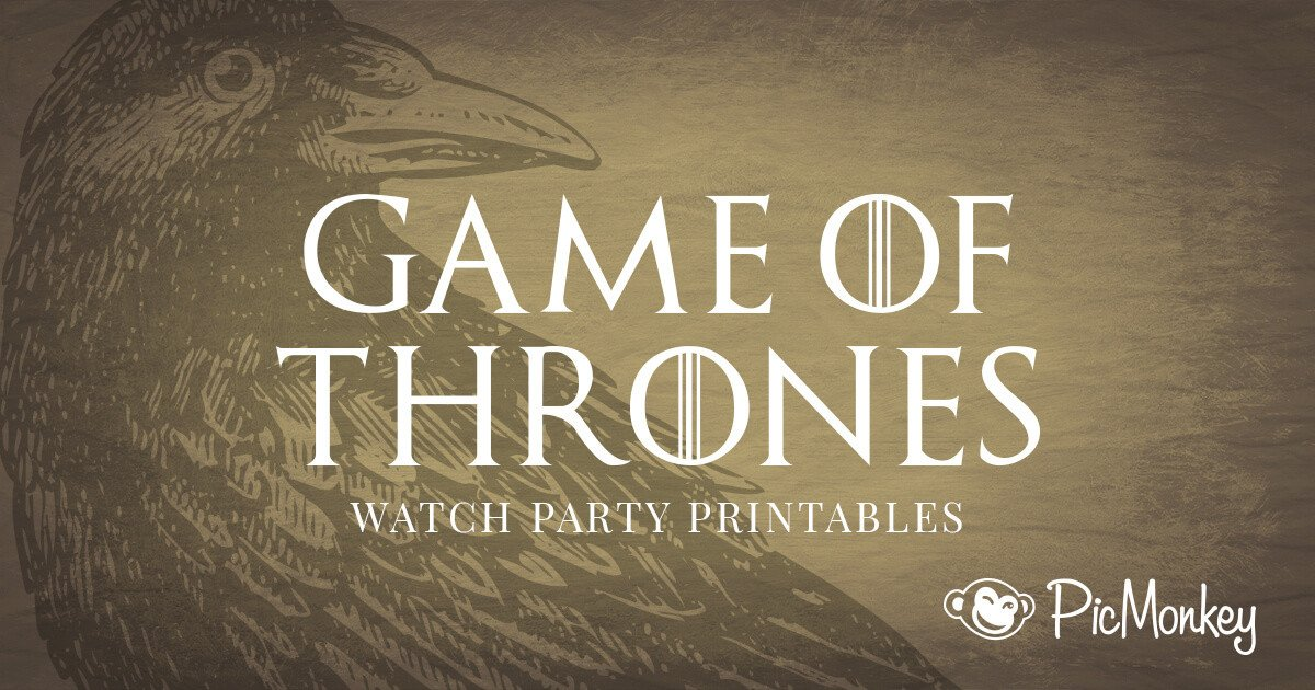 Game Of Thrones Menu Template Free Printables for Your Game Of Thrones Watch Party
