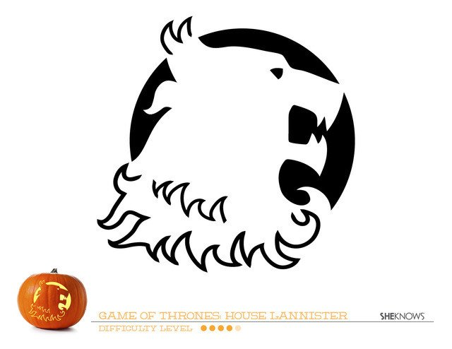 Game Of Thrones Menu Template Game Of Thrones House Of Lannister Pumpkin Carving