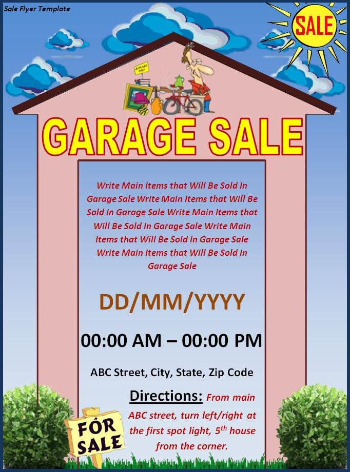 Garage Sale Flyer Template Free Flyer Templates