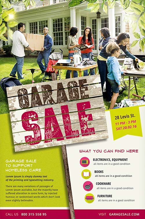 Garage Sale Flyer Template Free Garage Sale Free Flyer Template Download Psd for Shop