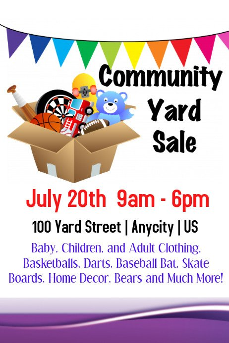 Garage Sale Flyer Template Free Munity Yard Sale Template