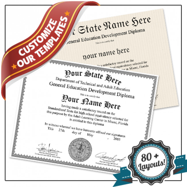 Ged Certificate Template Download Fake Ged Diploma Template All 50 Us States Plus Canada